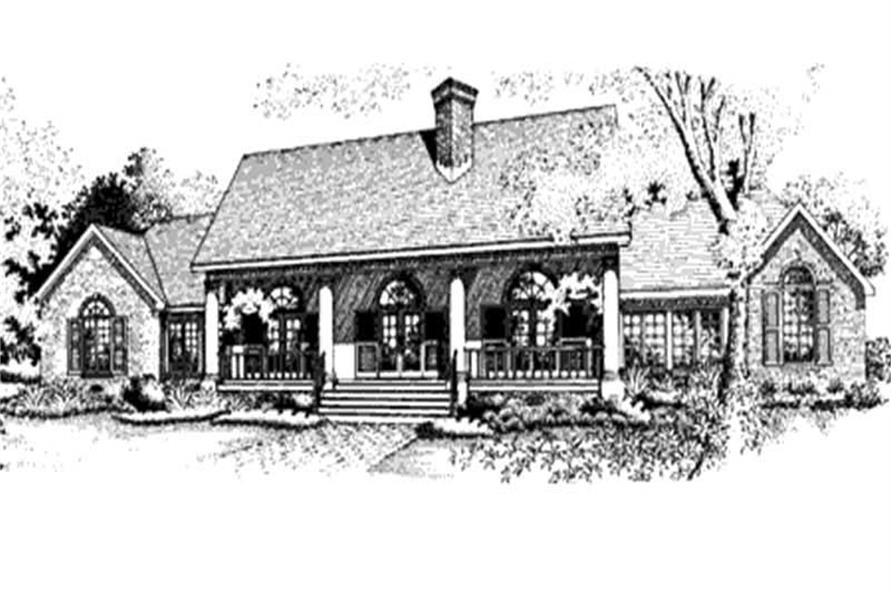 Home Plan Front Elevation of this 4-Bedroom,2276 Sq Ft Plan -146-2927