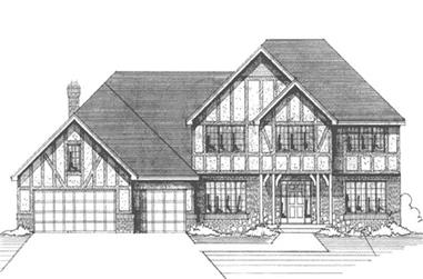 4-Bedroom, 2792 Sq Ft Country Home Plan - 146-2929 - Main Exterior