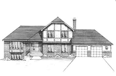 3-Bedroom, 2365 Sq Ft Country House Plan - 146-2932 - Front Exterior