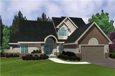 3-Bedroom, 2210 Sq Ft Country Home Plan - 146-2936 - Main Exterior
