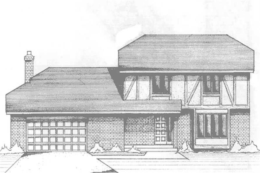 3-Bedroom, 2331 Sq Ft Tudor Home Plan - 146-2937 - Main Exterior