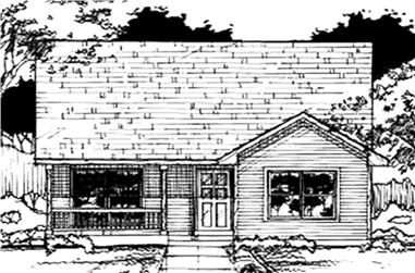 3-Bedroom, 1038 Sq Ft Country House Plan - 146-2938 - Front Exterior