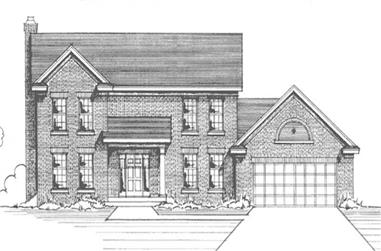 4-Bedroom, 2226 Sq Ft Colonial Home Plan - 146-2941 - Main Exterior
