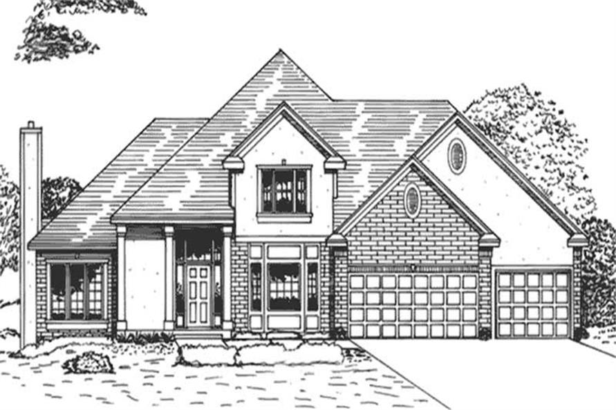 4-Bedroom, 3286 Sq Ft Colonial Home Plan - 146-2942 - Main Exterior