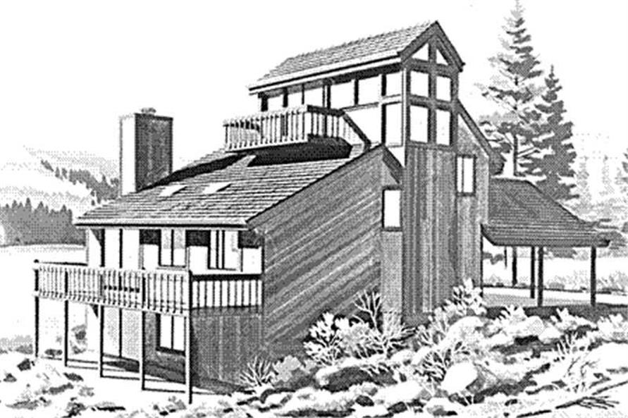 Front View of these home plans.