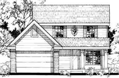 3-Bedroom, 1396 Sq Ft Country House Plan - 146-2947 - Front Exterior