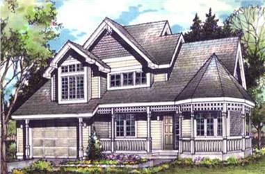 4-Bedroom, 2513 Sq Ft Country Home Plan - 146-2949 - Main Exterior