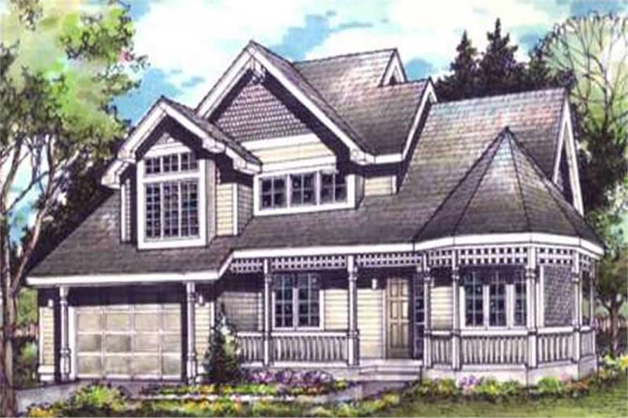 Front elevation of Country home (ThePlanCollection: House Plan #146-2949)