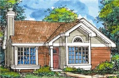 3-Bedroom, 1180 Sq Ft Country House Plan - 146-2950 - Front Exterior