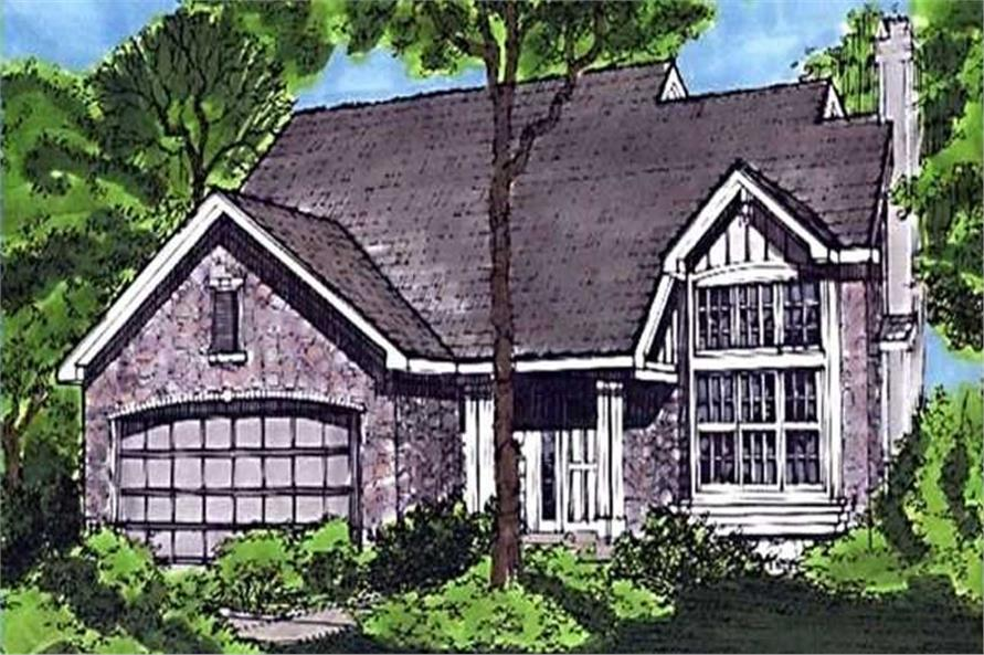 Country Homeplans LS-B-92023 front elevation.