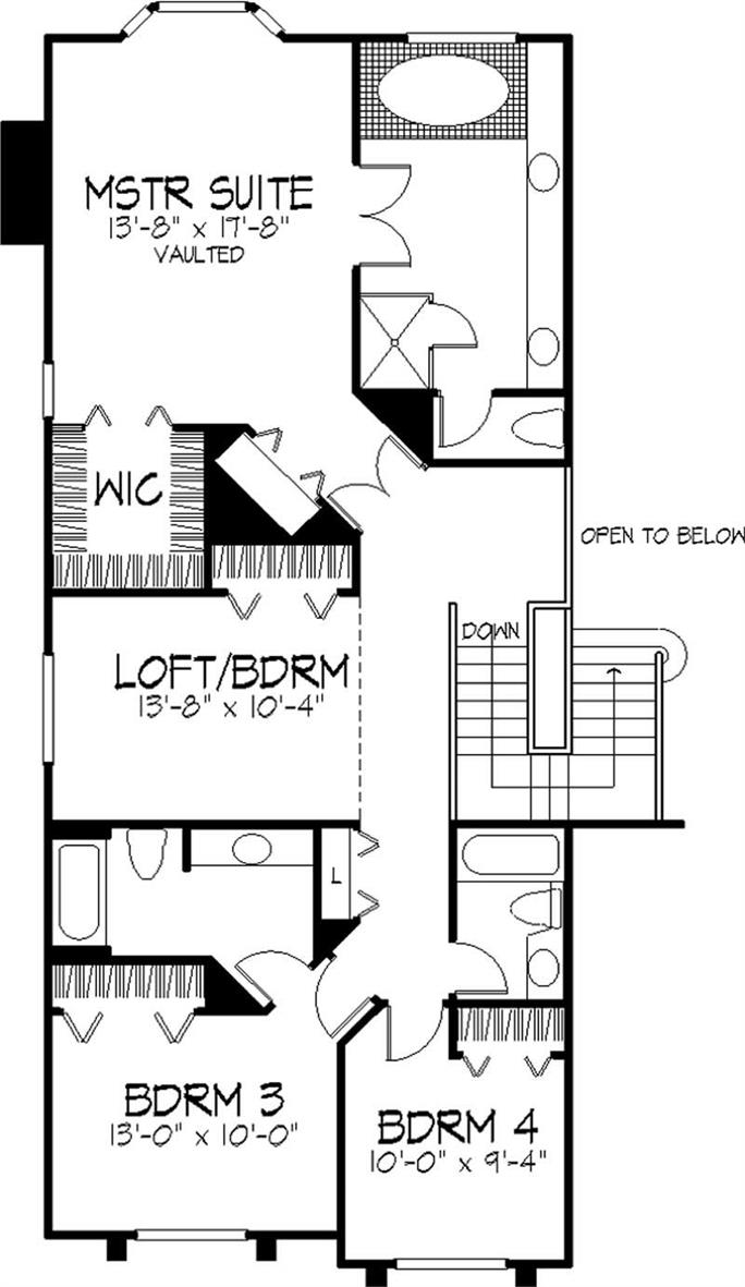 ... Floor Plan Second Story Of Cape Cod Plan #146 2953