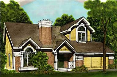 3-Bedroom, 2133 Sq Ft Country Home Plan - 146-2954 - Main Exterior
