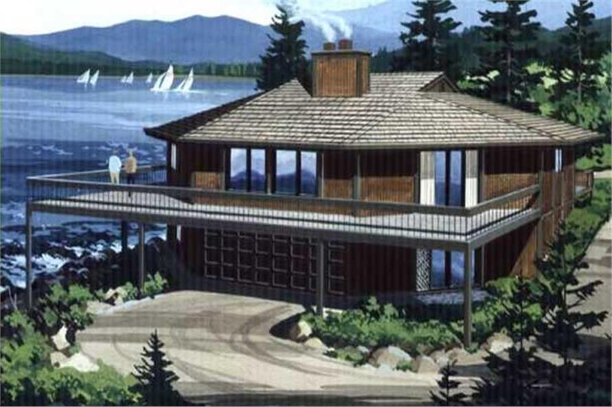 Color rendering for this house plan.
