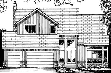 5-Bedroom, 4774 Sq Ft Colonial Home Plan - 146-2958 - Main Exterior