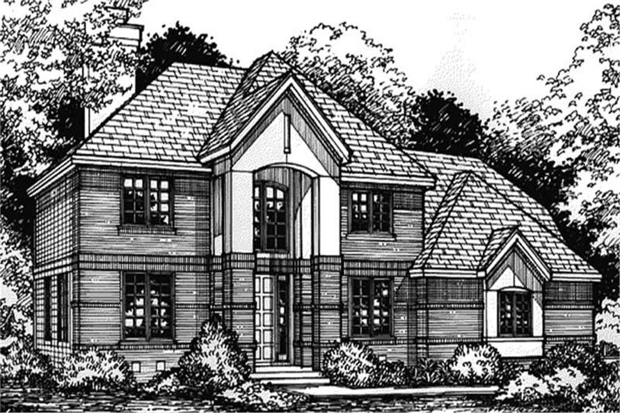 Front elevation of European Home Plans LS-B-93022.