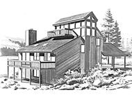 Front Elevation to house plan LS-H-936-1A