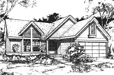 2-Bedroom, 1146 Sq Ft Country Home Plan - 146-2964 - Main Exterior