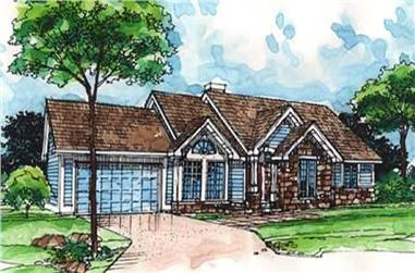 2-Bedroom, 1680 Sq Ft Ranch House Plan - 146-2965 - Front Exterior