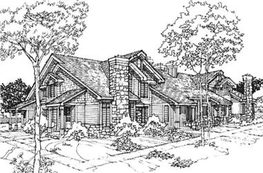 1-Bedroom, 1194 Sq Ft Country House Plan - 146-2966 - Front Exterior