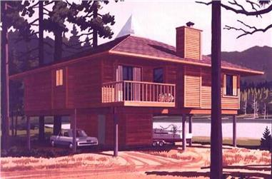 This is a colored rendering of Beachfront Homeplans LS-H-111-1.