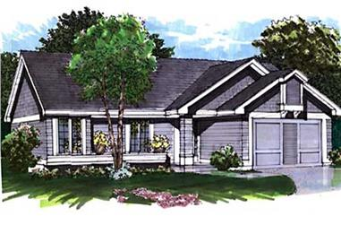 2-Bedroom, 1159 Sq Ft Ranch Home Plan - 146-2969 - Main Exterior