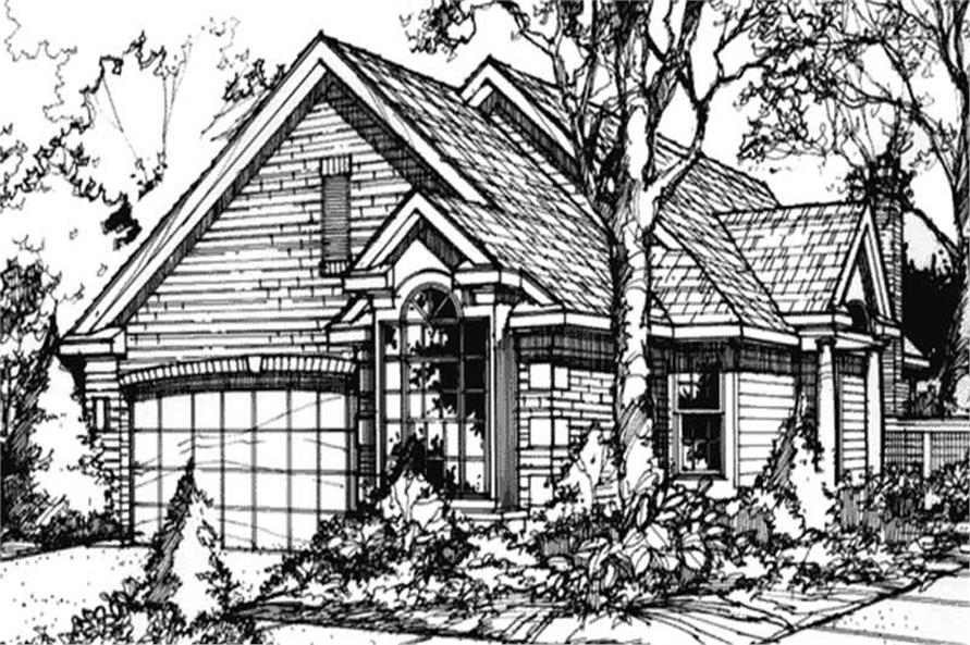 Front elevation of country homeplans LS-B-89075.