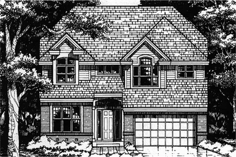 This shows the front elevation of European Home Plans LS-B-93029.
