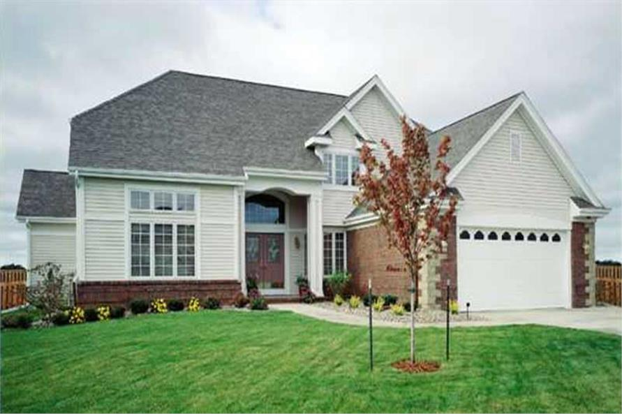 This photo shows the front of these country house plans LS-B-93027.