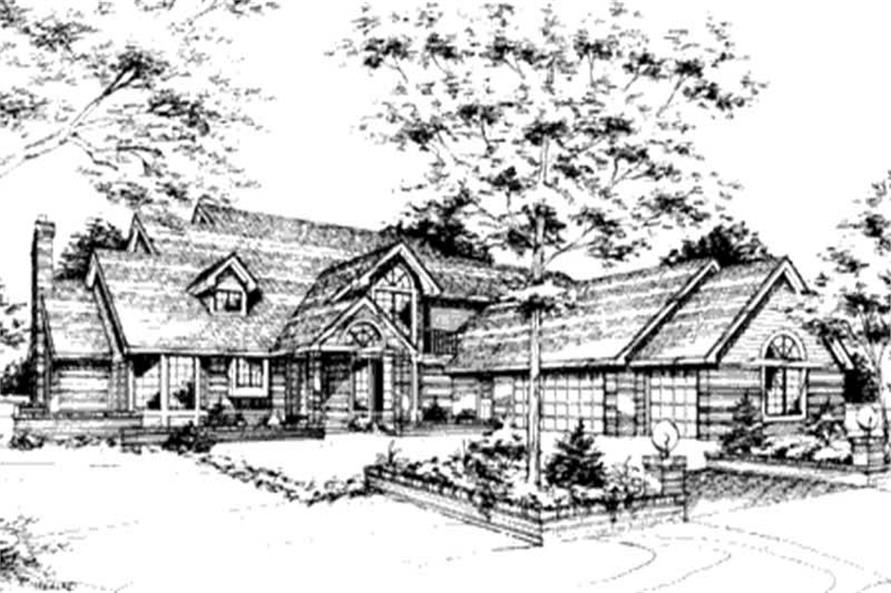 Ranch House Plans front elevation.