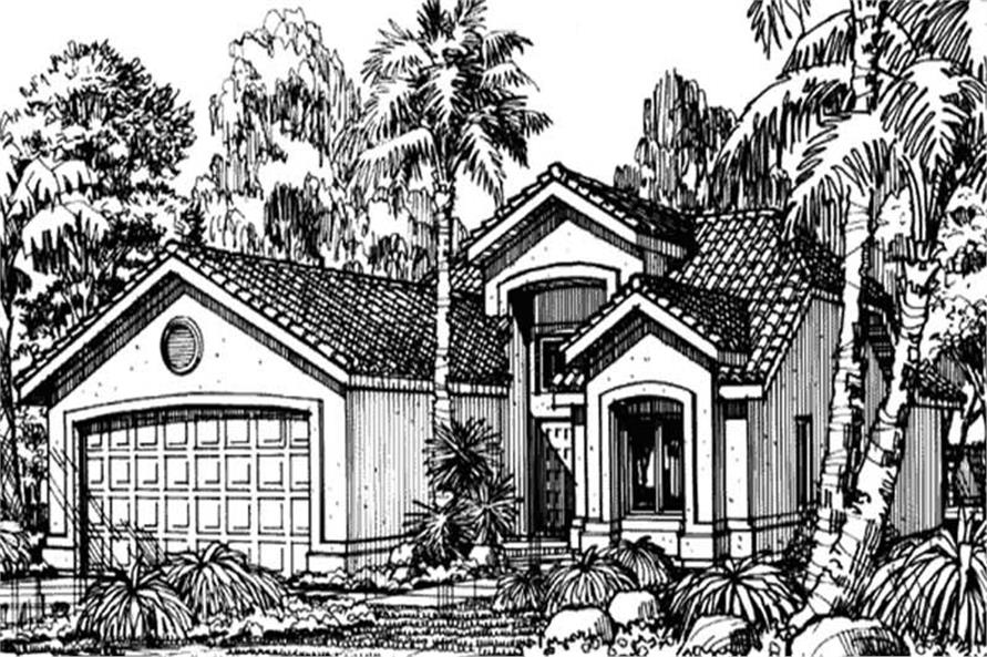 Front Elevation for Southwestern Houseplans LS-B-90502.