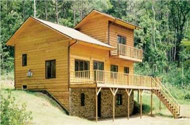 This is an actual photo of Log Cabin Homeplans LS-H-863-2.