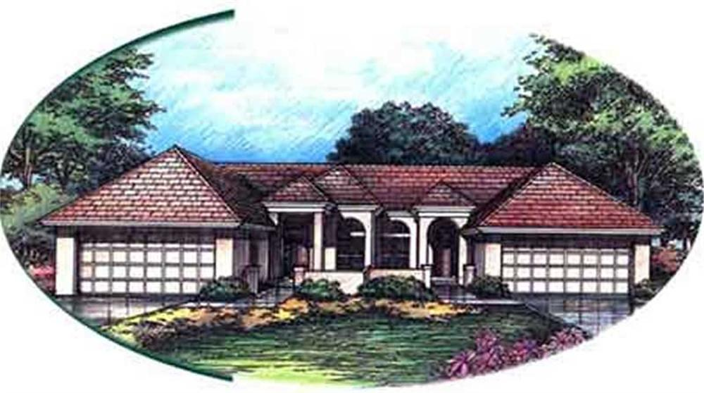 This shows the front elevation of Multi-Unit Homeplans LS-B-92044.