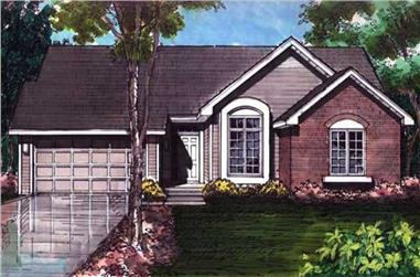 3-Bedroom, 1440 Sq Ft Country Home Plan - 146-2990 - Main Exterior