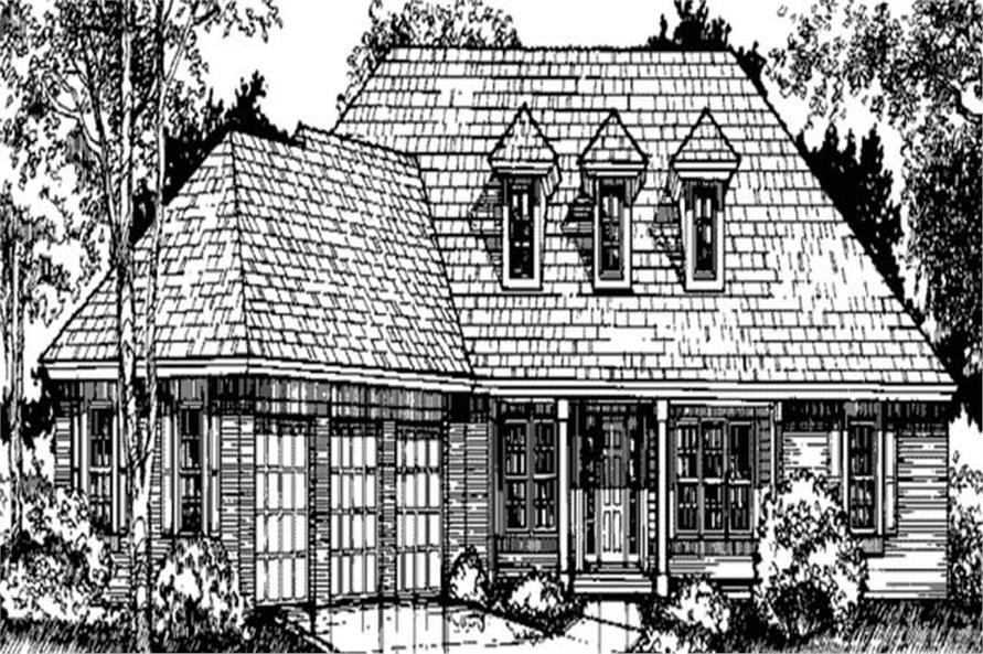This is the front elevation of House Plans LS-B-92042.