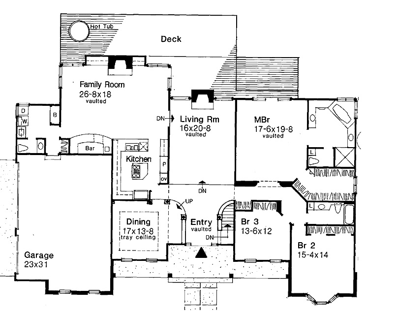146-2992 house plan main floor
