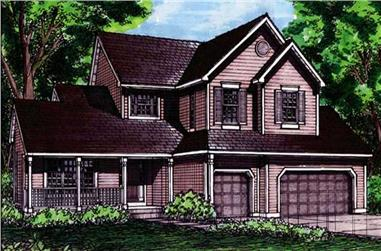 4-Bedroom, 2840 Sq Ft Country Home Plan - 146-2994 - Main Exterior