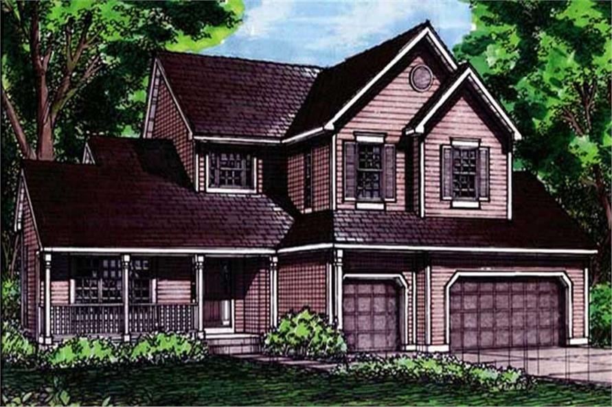 This is the front elevation of these country homeplans LS-B-92040.