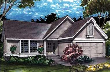 2-Bedroom, 1146 Sq Ft Country House Plan - 146-2996 - Front Exterior