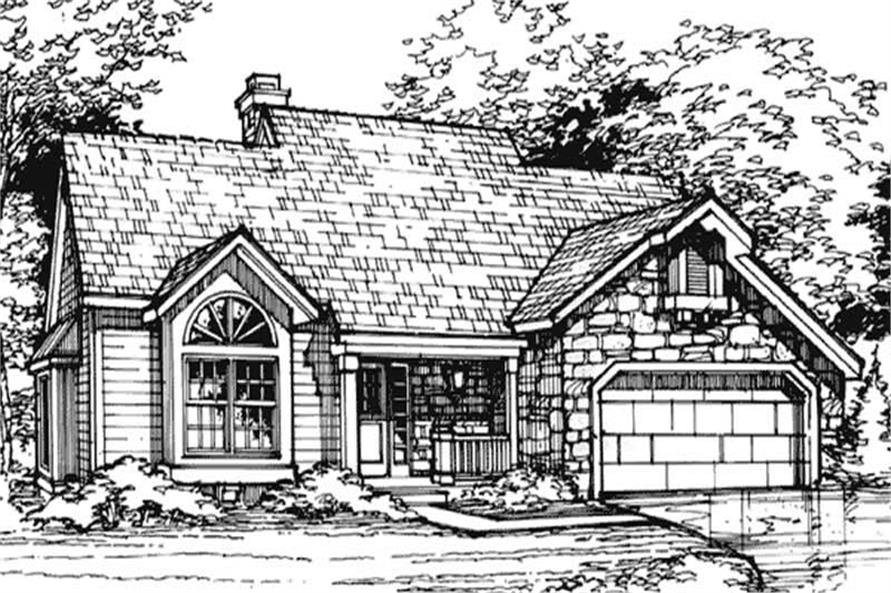3-Bedroom, 2003 Sq Ft Cape Cod House Plan - 146-2997 - Front Exterior