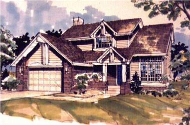 3-Bedroom, 1732 Sq Ft Country House Plan - 146-2998 - Front Exterior