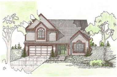 3-Bedroom, 1592 Sq Ft Contemporary Home Plan - 147-1001 - Main Exterior