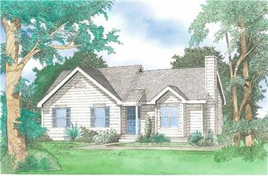 3-Bedroom, 1269 Sq Ft Ranch House Plan - 147-1002 - Front Exterior