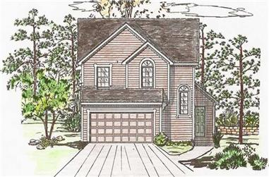 3-Bedroom, 1681 Sq Ft Small House Plans - 147-1006 - Main Exterior