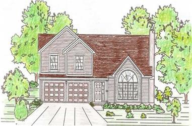 3-Bedroom, 1800 Sq Ft Small House Plans - 147-1007 - Main Exterior
