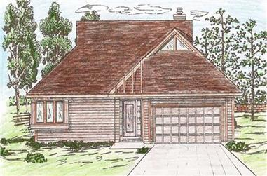 2-Bedroom, 1687 Sq Ft Wheelchair Accessible Home Plan - 147-1009 - Main Exterior