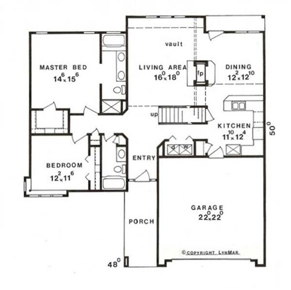 Home Plan : # 147-1009 Floor Plan First Story