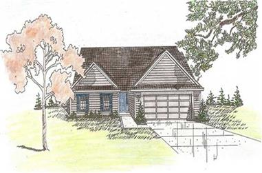 3-Bedroom, 1584 Sq Ft Small House Plans - 147-1010 - Front Exterior
