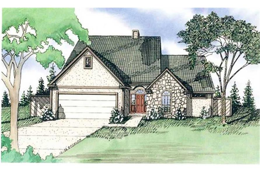Home Plan Rendering of this 3-Bedroom,1750 Sq Ft Plan -147-1011