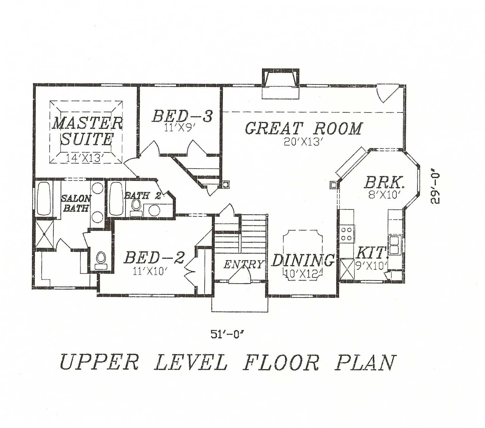 Multi level house plans home design lp 2224 for Multi level floor plans