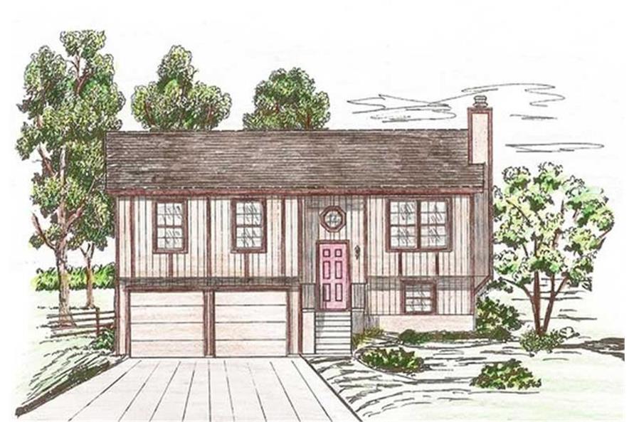 Home Plan Rendering of this 3-Bedroom,1433 Sq Ft Plan -1433